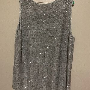 Lane Bryant size 18/20 sparkle silver sweater